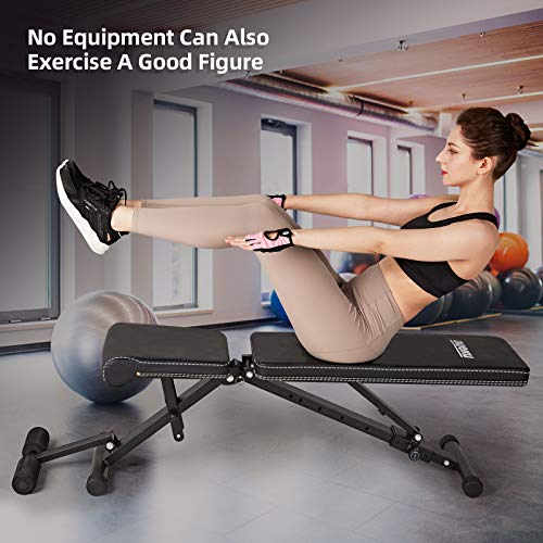 AyeKu Weight Bench, Adjustable Strength Training Bench for Full Body Workout with Foldable Incline Decline Exercise Bench for Home Gym