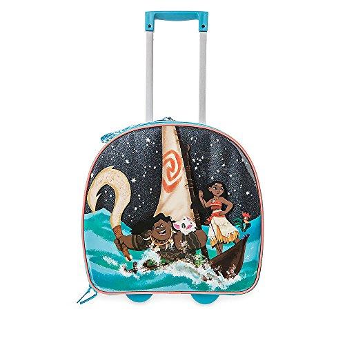 Disney Store Moana Light Up Rolling Luggage