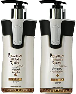 Keratin Cure BTX Brazilian Therapy Xtreme daily use Shampoo Conditioner set with Argan oil Biotin SULFATE FREE protect Color Enhance Hair Growth prevent Hair Loss (300ml/ 10fl oz)