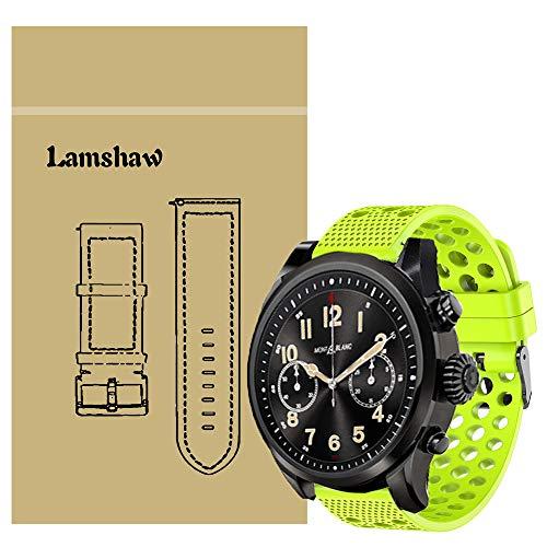LvBu Armband Kompatibel Für Montblanc Summit 2, Sport Silikon Classic Ersatz Uhrenarmband Für Montblanc Summit 2 Smartwatch (Grün)
