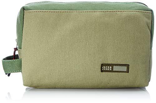 JACK & JONES Jacvance Toiletry Bag - Beauty case da viaggio, Verde fucile, Taglia unica