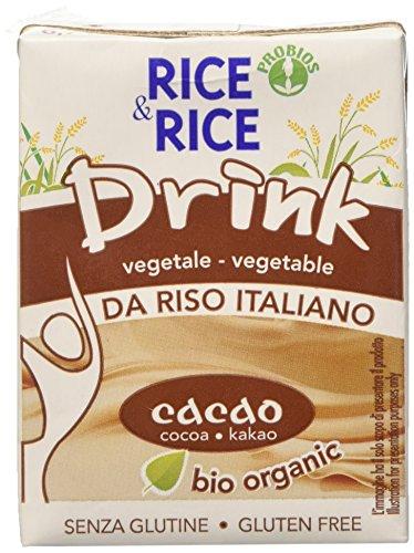Probios Bevanda di Riso con Cacao con Cannuccia - 200 ml, Confezione da 24 pezzi