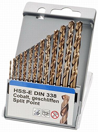 Gut sortiertes Bohrspitzen-Set von Keil, HSS-E DIN 338Cobalt, geschliffene Spitzen, Durchmesser 4,0+ 5,0+ 6,0+ 8,0+ 10mm., 1,5-6,5mm