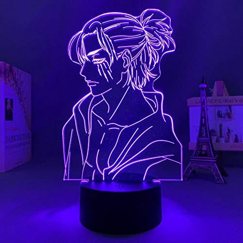 Quzim 3DAnime LightLED Ataque a Titán 4 Eren Yeager figura dormitorio decoración noche luz niños regalo de cumpleaños shingeki no Kyojin ilusión lámpara
