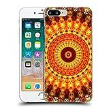 Head Case Designs Oficial Haroulita Orange Mandala 2 Carcasa rígida Compatible con Apple iPhone 7 Plus/iPhone 8 Plus