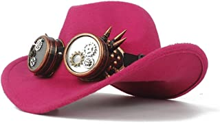 Hat Fashion Men Women Wool Western Cowboy Hat With Gear Glasses Church Hat Sombrero Hat Fashion Hat
