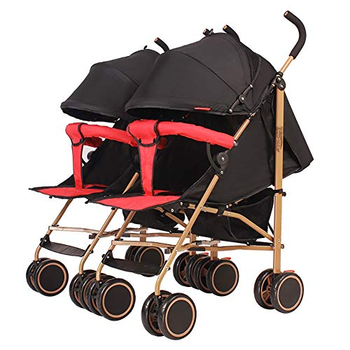 Buy Discount JAD@ Baby Stroller, Detachable Twin Trolley, Lightweight Folding Can Sit and Lie Down B...