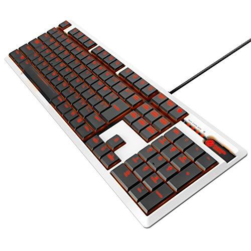 エレコム ゲーミングキーボード 【ARMA】 メカニカル 独自の薄型設計 フルサイズ 5000万回耐久スイッチ 日本語配列 LED搭載 ホワイト TK-ARMA50WH