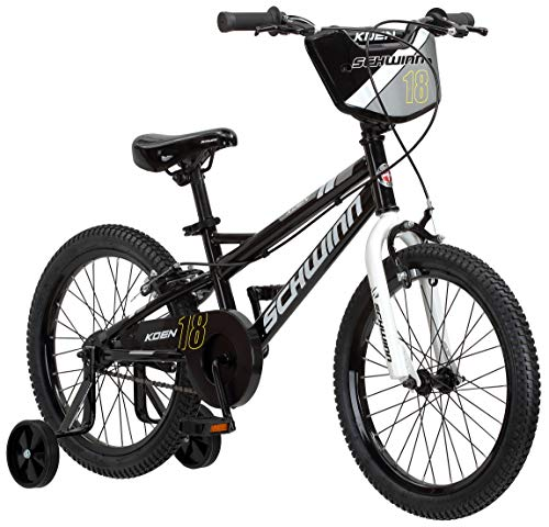 Schwinn Koen Boys Bike for Toddlers and Kids, 18-Inch Wheels, Black