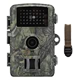 Deror Cámara de Caza, cámara de Caza de 12MP, Seguimiento de rastros, cámara termográfica 1080P IP66, Vista Nocturna, Vida Silvestre, exploración de cámaras al Aire Libre