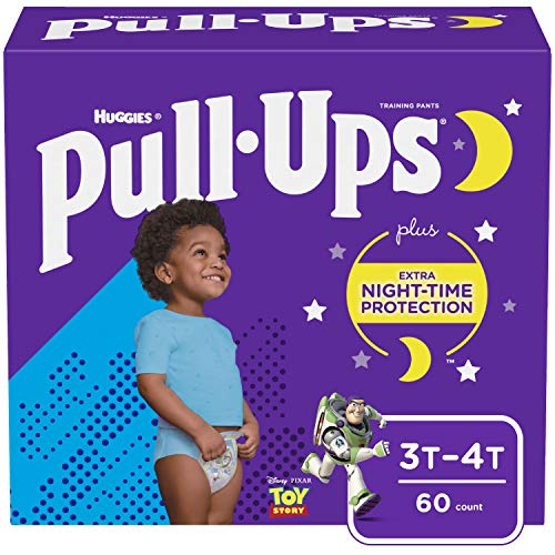 Huggies Pull-Ups Boys NightTime Training Pants Giga Pack - 3T-4T (60ct)