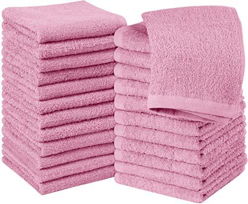 Utopia Towels - 24 Toallas para la Cara de algodón, Paños de algodón (30 x 30 cm, Rosa)