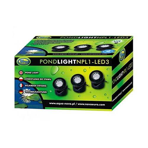 Teichleuchte LED 3er-Pack; Unterwasserleuchte