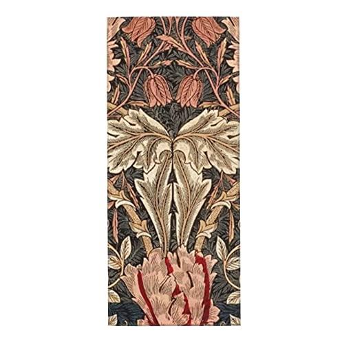 Toallas de microfibra, toalla facial, William Morris Honeysuckle Azulejos, súper suaves, superabsorbentes, de secado rápido para baño, manos, cara, gimnasio y spa, 30 x 70 cm