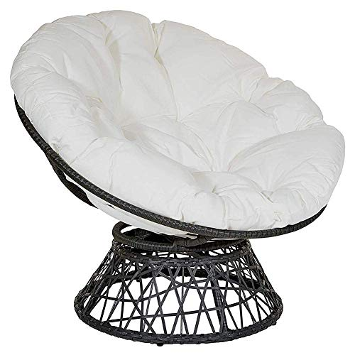 Furniture Oversized Chair Cushion, Round Patio Garden Wicker Hanging Egg Rattan Chair Hammock Pad,Chair Not Included (100x100cm)