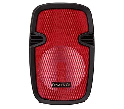 Power & Co. Bocina 4200W Color Rojo con batería Recargable XPL8000RD