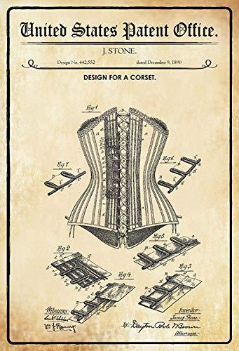 NWFS patent ontwerp voor een corsage metalen bord bord bord Metal Tin Sign gewelfd gelakt 20 x 30 cm