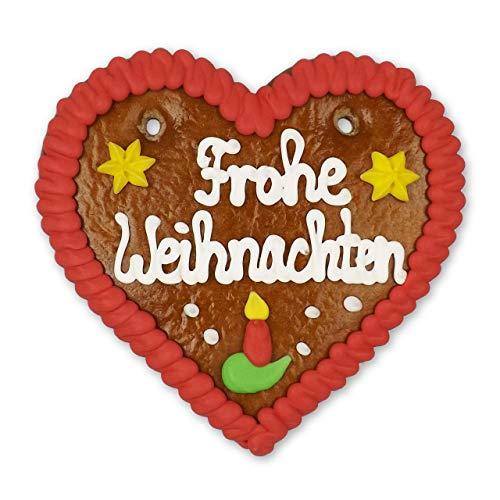 Lebkuchenherz 12cm - Frohe Weihnachten - zum genießen oder als Weihnachtsdekoration