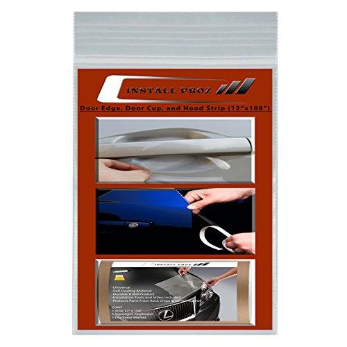 """Install Proz Self-Healing Clear Paint Protection Film Kits (Bundle 12""""x108"""" Hood Strip, Door Edge, Door Cup)"""