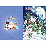 ZHTY Tarjeta de Papel de Pintura de Diamante DIY 5D, Tarjeta de Pinturas pegadas con Diamantes de imitación de Cristal, artesanía para Navidad, Productos de Diamantes Hechos a Mano en Punto de Cruz