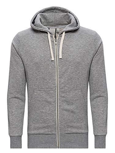 Yazubi Sweatshirtjacke Sweatjacke Kapuzenjacke Männer Jacke Herren Graue Übergangsjacke Sweater Hoodie Helix, Grau (Dapple Gray 163907), XL