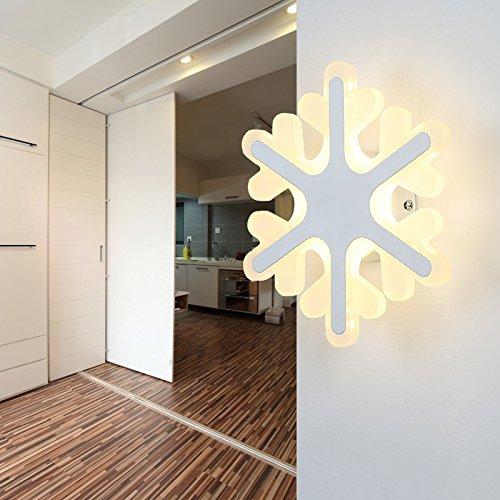 YU-K Muur- en slaapkamer-plafondlamp LED sneeuwvlok licht creatieve kinderen verlichten studie slaapkamer voor jongens en meisjes cartoon wandlamp