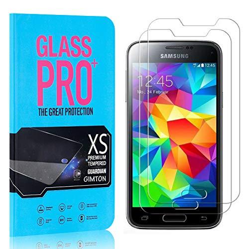 GIMTON Displayschutzfolie für Galaxy S5 Mini, 9H Härte HD Schutzfolie aus Gehärtetem Glas für Samsung Galaxy S5 Mini, Blasenfrei, Anti Fingerabdruck, 2 Stück