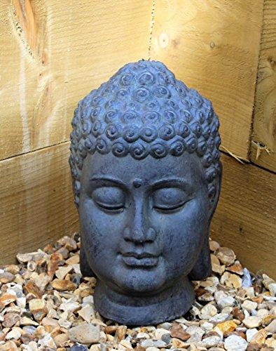 Buddha Head Sculpture Ornament indoor outdoor garden Home Decor Stone...