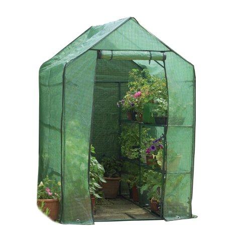 Gardman 7622 Walk-In Greenhouse with Shelving, 75' Long x 49' Wide x 75' High