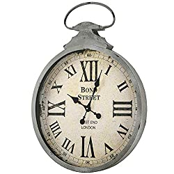 American Art Decor Bond Street West End London Oversized Vintage Antique Metal Pocket Watch Wall Clock 28