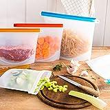 Reusable Silicone Food Bag (4 Pack) Reusable Silicone Food...