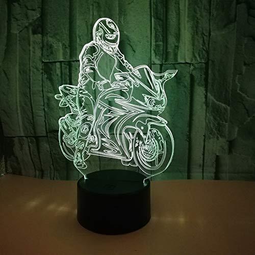 Motorfiets 3D LED-lamp Nachtkastje Slaapkamer 3D-klein nachtlampje Verjaardagsdecoratie 16 Kleurverandering Kinderlampdecor