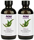 NOW Eucalyptus Essential Oil, 4-Ounce , 2 Count