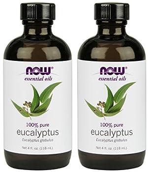NOW Foods Eucalyptus Essential Oil 4-Ounce  2 Count