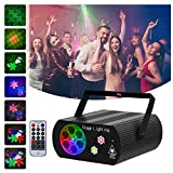 Hemucun Party Lights Sound Activated Disco Light with Remote Control, Laser Projector Strobe DJ Lights for Stage disco ball Birthday show Xmas KTV Bar Club Pub