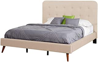 A to Z Furniture - Garbo Mid Century Upholstered Bed Super King in Beige Color Without Mattress