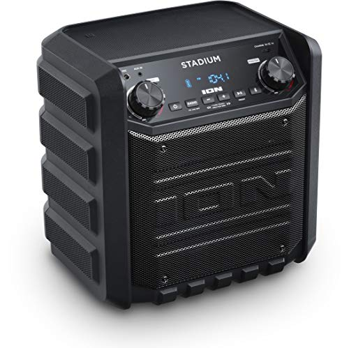 ION IPA80S Stadium Bluetooth Tailgate Speaker 50 Watt PortableRechargeable AM/FM Includes Mic and Cable Black