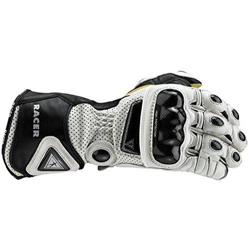 Racer 21403Hohe Handschuhe für Damen, weiß, Größe L