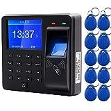 AMAO Sistema de control de acceso por huella digital Teclado Proximidad RFID biométrico 125 KHz Controlador de lector de tarjetas EM, Con Dactilar Contraseña Asistencia de la Máquina de Empleados