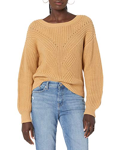 The Drop Women's Selena Cable Front Cropped Sweater