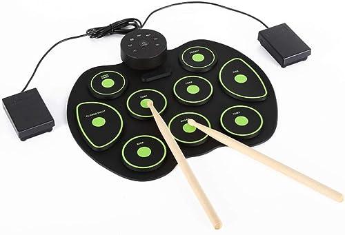 Ahorre 35% - 70% de descuento BESTSUGER Roll up Conjunto Conjunto Conjunto de batería electrónica, 9 Pad Plegable práctica Digital Drum Kit de Entretenimiento de Instrumentos Musicales, con Palos y Pedales  alta calidad
