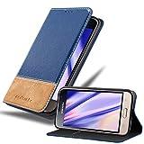 Cadorabo Coque pour Samsung Galaxy J1 2016 en Bleu Brun – Housse Protection avec Fermoire...