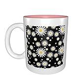 Regalo de cumpleaños para tazas de porcelana, diseño de margaritas blancas