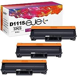 ejet D111S MLT-D111S Cartucce Toner Compatibile per Samsung MLT-111S 111S per Samsung Xpress SL-M2070 SL-M2026 SL-M2020 SL-M2022 SL-M2070W SL-M2026W SL-M2020W SL-M2022W SL-2070F SL-2070FW (3 Nero)