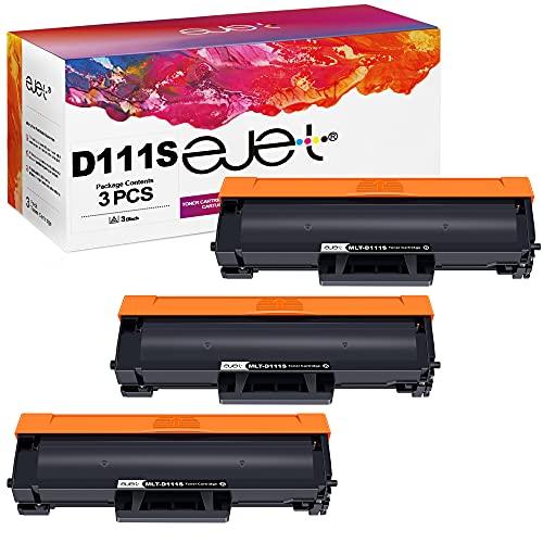ejet D111S - Tóner de Repuesto para Samsung MLT-D111S para Samsung Xpress M2026W M2026 M2070W M2070 SL-M2026 SL-M2070 SL-M2026W SL-M2070W SL-M2070FW M2020 M2022 M2020W, M2022W (3 Negros)