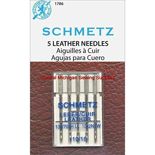 New MACOSKI Supplies for Schmetz Leather Needles Size 18 Fits Singer Models 15, 27, 28, 66, 99, 201,...