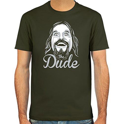Pixda T-Shirt The Dude ::: Couleur: Rouge foncé, Vert Olive, Bleu Marine ou Noir ::: Tailles: S-XXL