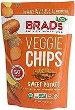 Brad's Plant Based Organic Veggie Chips, Sweet Potato, 12 Bags, 36 Servings Total