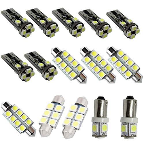 Lot de 15 ampoules LED A3 pour intérieur de voiture 43 mm 44 mm