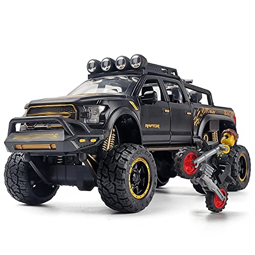 Xolye 6 Rad Stoßdämpfer Legierung Offroad Fahrzeug Spielzeug Big Bike Boy Spielzeug mit Motorrad Sound und leichte Effekt Kinderspielzeug Auto Geschenk